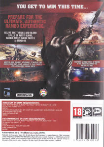 Rambo: The Video Game [PC] - Back Cover - It shows no signs that it's a rail shooter